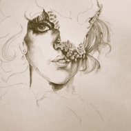 Lady Gaga. Pencil on Paper. 2010. 12x17 inches.