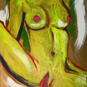Untitled (Nude). Acrylic on canvas. 2011.