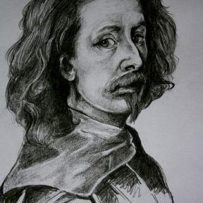 Anthony Van Dyke. Pencil on Paper. 2014.