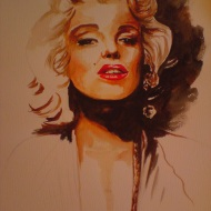 Marilyn. Watercolour on paper. 2009.