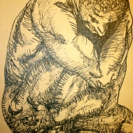 Pen and ink on paper. 2009.